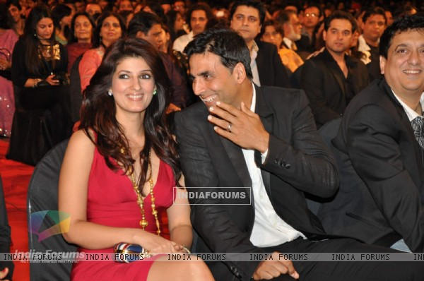 Twinkle khanna and Akshay kumar at Stardust Awards 2010 in Mumbai