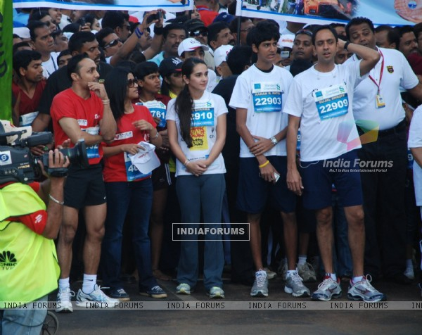 Bollywood actors Rahul Bose and Konkona Sen Sharma at Marathon High Res in Mumbai