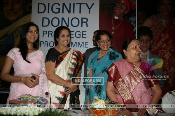 Sakshi Tanwar, Tanuja and Sudha Shivpuri on Dignity Donor event at Taj, Colaba in Mumbai on Monday Afternoon