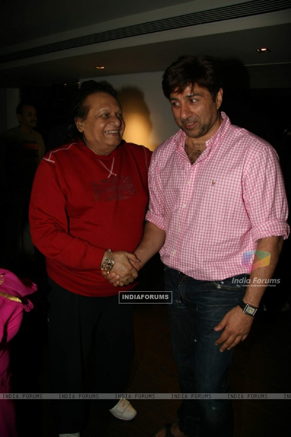 Bollywood actor Sunny Deol at Kapil Sharma''s screening of Veer