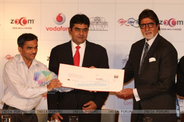 Bollywood Actor Amitabh Bachchan at the launch of album Phir Mile Sur