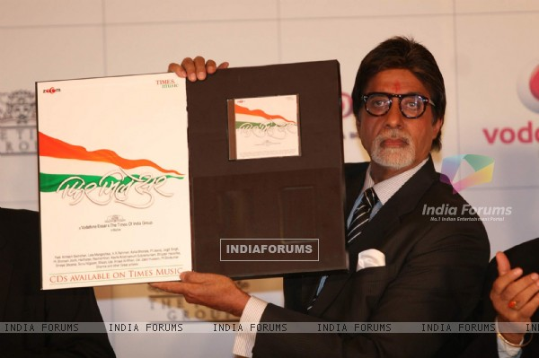 Bollywood Actor Amitabh Bachchan at the launch of album Phir Mile Sur.