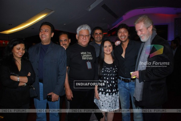 Om Puri, Gulshan Grover, Shreyas Talpade at premiere of Hangman in Cinemax, Mumbai on Wednesday Night