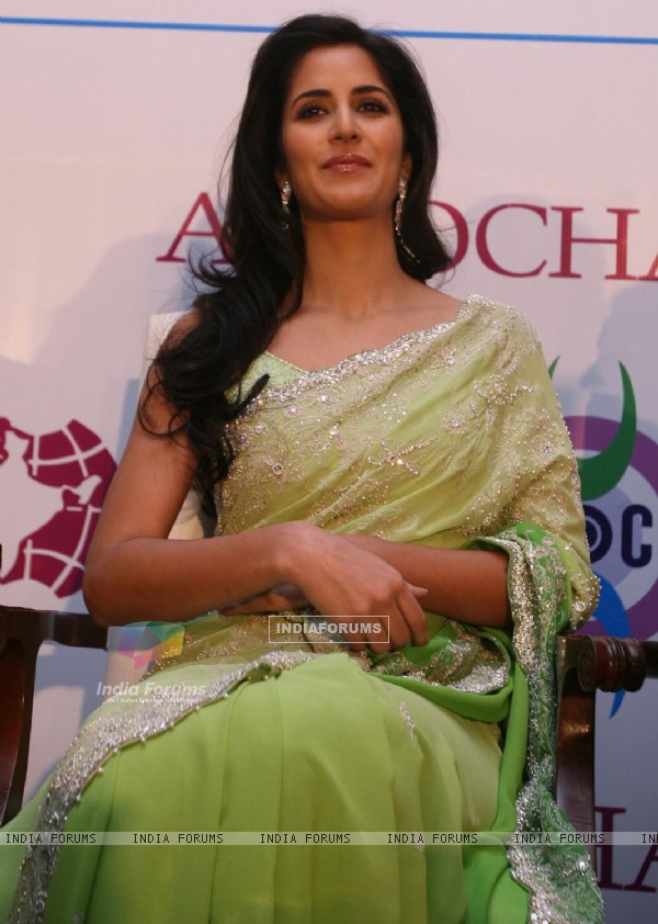 Bollywood actor Katrina Kaif at an event to collect an award for excellence in performing arts, Katrina was invited to collect her pending award for excellence in performing arts 2009 by the Associated Chambers of Commerce and Industry of India