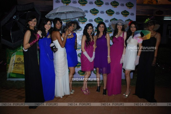 Soniya Mehra walks for Mcdowells Pre Race fashion show at Turf Club Mumbai
