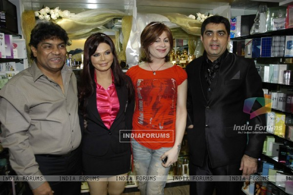 Item girl Rakhi Sawant and Bobby darling at the launch of Beauty lounge at Andheri