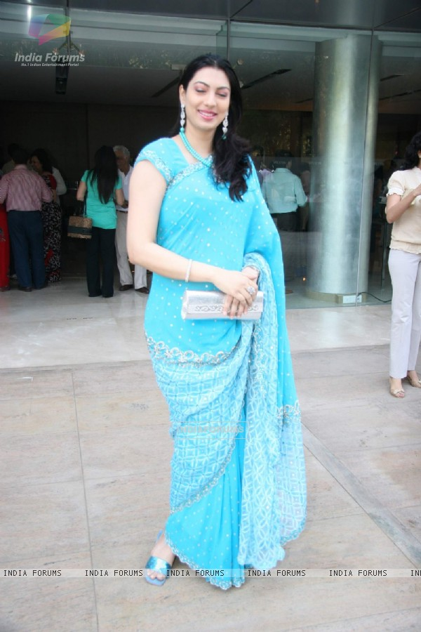 A guest at the Sandesh Mayekar''s brunch at Goregaon