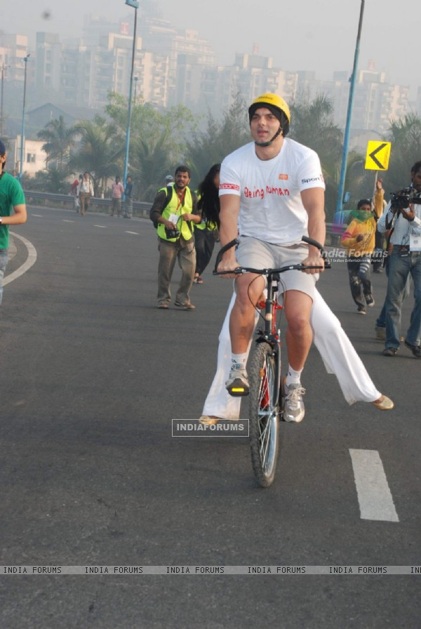 Sohail at Cyclothon at Bandra