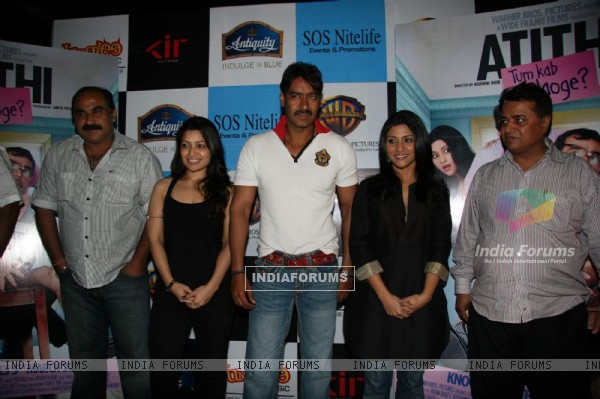 Ajay Devgan and Konkona Sen Sharma at Atithi Tum Kab Jaonge music launch