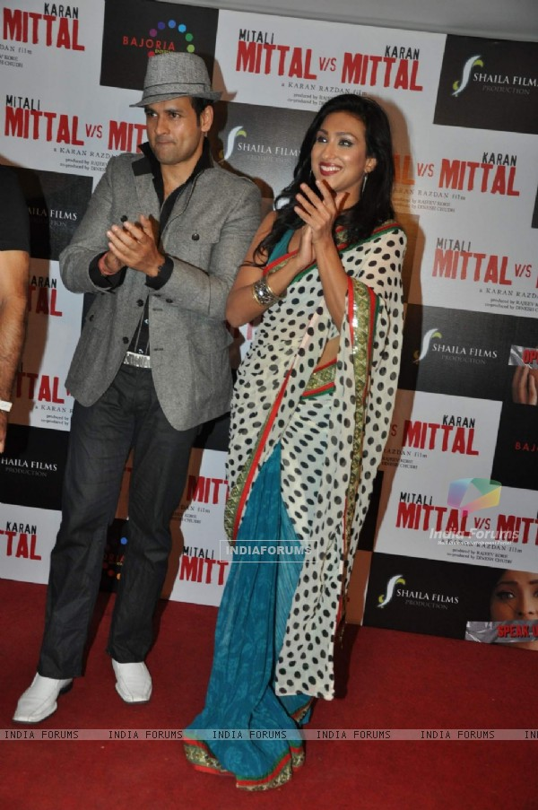 Rituparna Sengupta and Rohit Roy on music launch of upcoming movie Mittal V/s Mittal at Cest la Vie