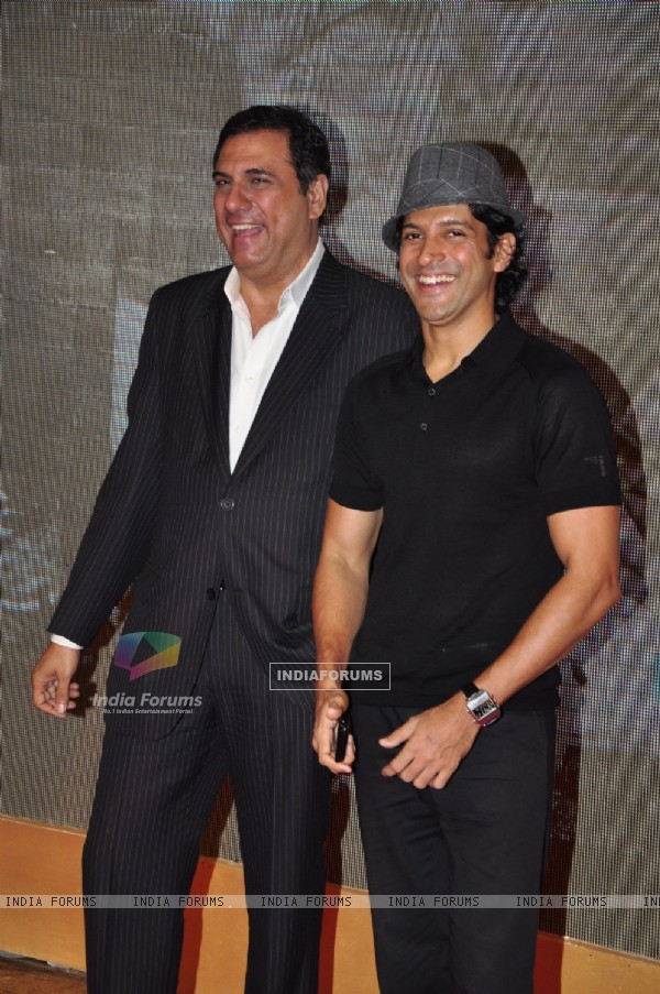 Boman Irani and Farhan Akhtar at Ambani''s Big pictures bash at Grand Hyatt