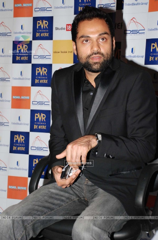 "Actor Abhay Deol at a press-meet to promote his film ""Road Movie"" in New Delhi on Thrusday March 2010"
