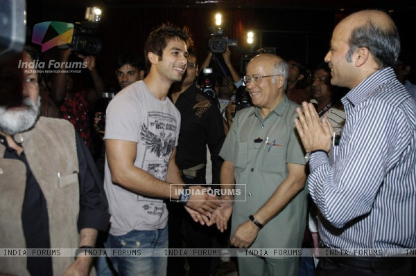 Shahid Kapoor at Lyrics writer Irshad Kamil''s bash, Novotel in Mumbai