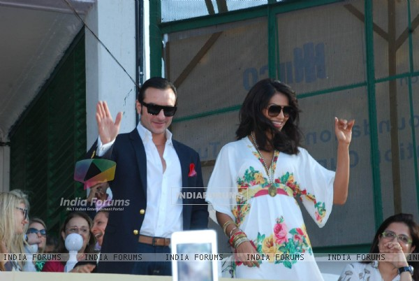 Saif Ali Khan and Bipasha Basu at Vandrewala Cup