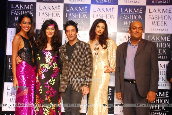 Models walks on the ramp for designer Suneet Verma at Lakme Fashion Week 2010