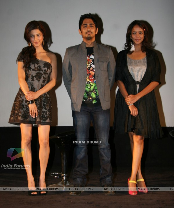 Shruti Hassan & Siddharth at Walt Disney Studio announcement at Imax on Mumbai