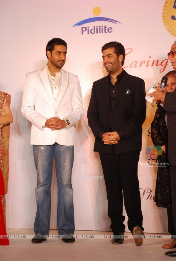Abhishek and Karan Johar at CPAA Shaina NC show presented by Pidilite at Lalit Hotel