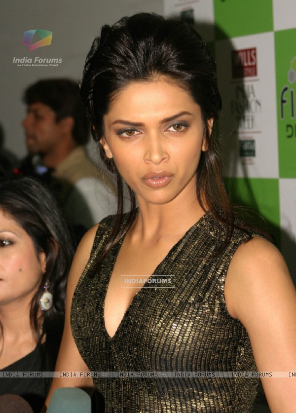 Bollywood actress Deepika Padukone at the Wills Lifestyle India Fashion Week-2010, in New Delhi on Saturday 27 March