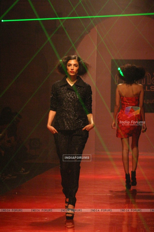 Models showcasing designer Namrata Joshipura''s creations at the Wills Lifestyle India Fashion Week-2010, in New Delhi on Saturday 27 March