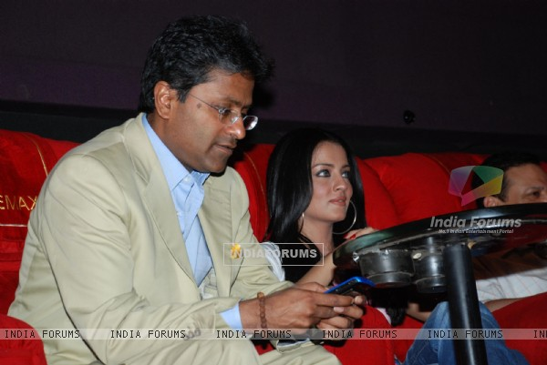 IPL star Mr Lalit Modi and actress Celina Jaitley at Cinemax Eternity Mall Thane