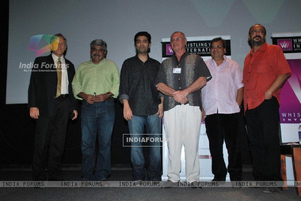 Karan Johar at Whistling Woods at Goregaon