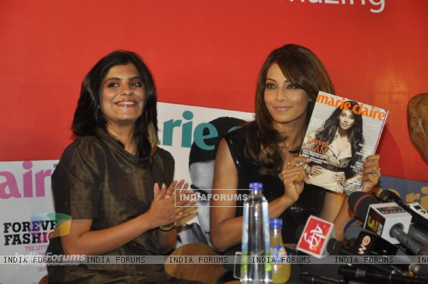 Bipasha launches latest Marie Claire issue