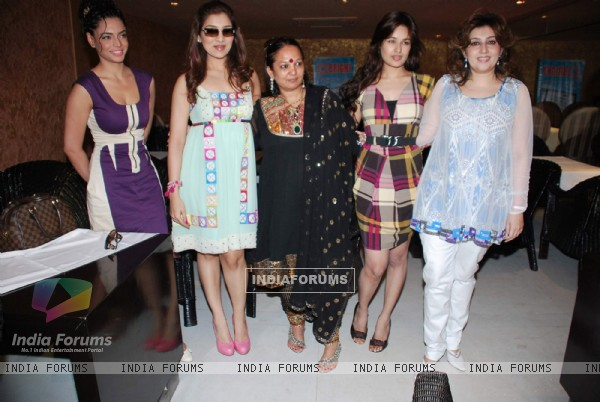 Yuvika Chaudhary and Pooja Chopra at Bharata N Dorris Hair & Make-up Fashion week announcement