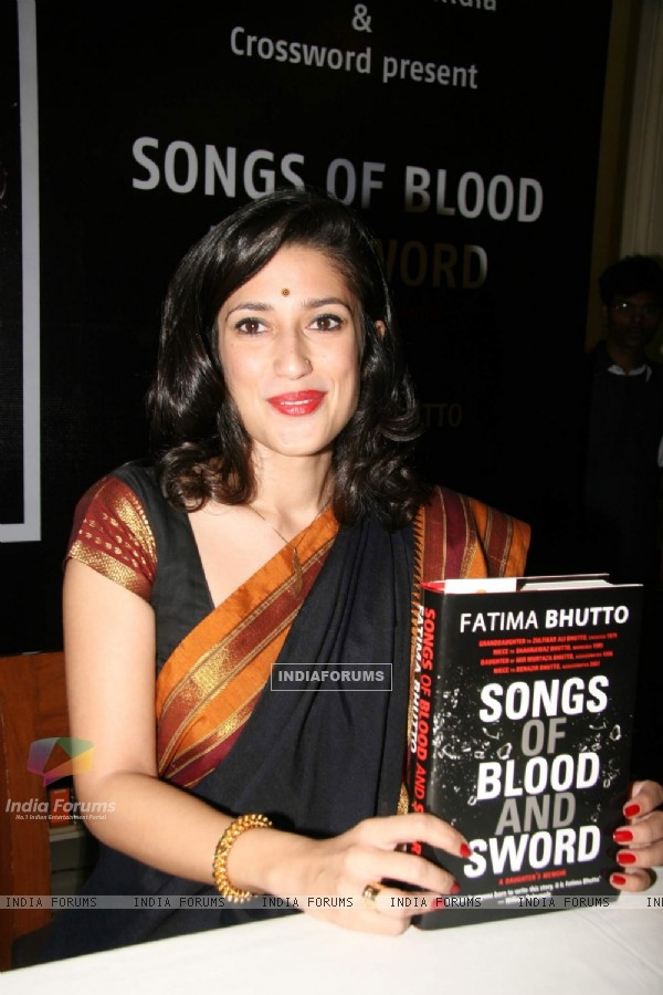 "Benezir Bhutto''s niece Fatima Bhutto at the launch of her new book ""Songs of Blood"""
