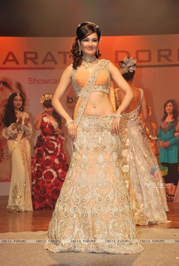 Yuvika Chaudhary at Bharat and Dorris hair and makeup fashion week Grand finale
