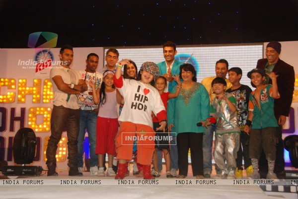 Guests at the launch of Colours new show ''Chak Doom Doom'' show at Taj Land''s End