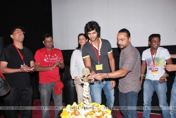 Manisha Koirala, Rahul Bose and Purab Kohli at the Inaugural day of Kashish Film Festival at PVR