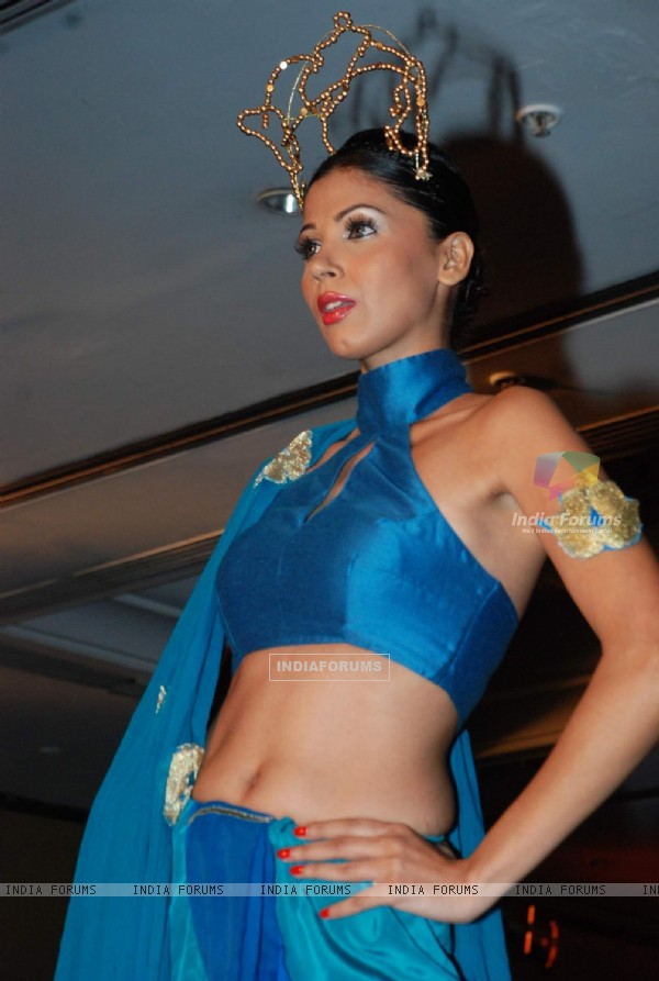 A model at the fashion show organised by Premlila Vithaldas Polytechnic SNDT college