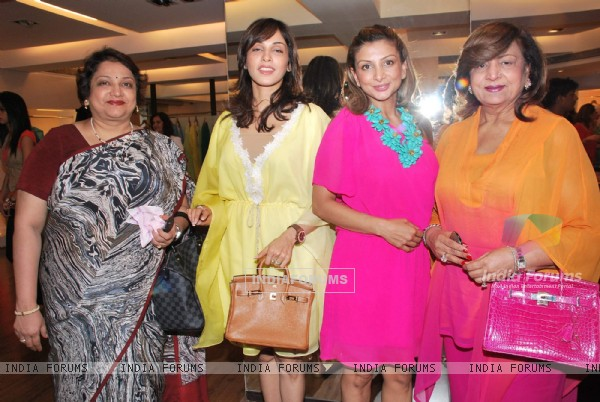 Bollywood actress Isha Koppikar at unveiling of new collections from I Bella, Malaga And Vivre at Aza store