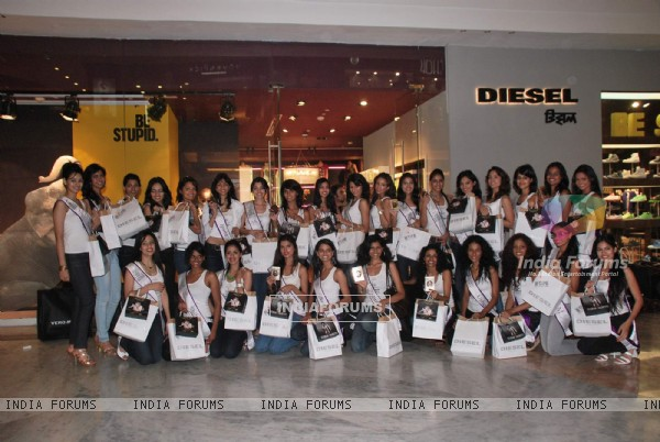 Miss India Universe contestants visit Miss Sixty store at Palladium