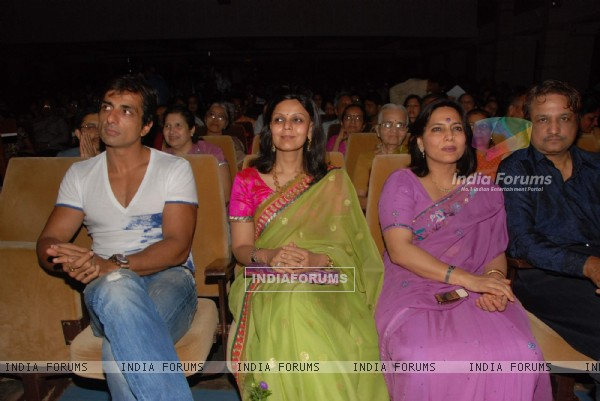Bollywood actor Sonu Sood at the bash of former Miss Afganisthan Vida Samadzai at Birla Matushree