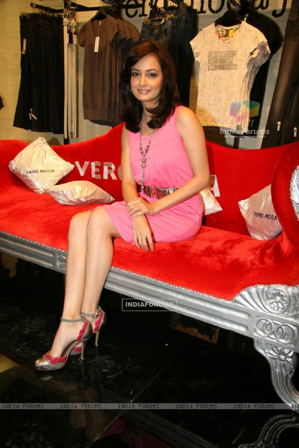 Bollywood actress Diya Mirza at the launch of Vero Moda store