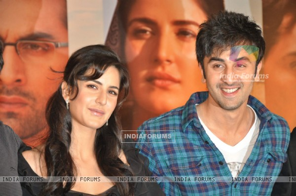 "Katrina Kaif and Ranbir Kapoor at a press meet for film ""Rajneeti"" in JW"