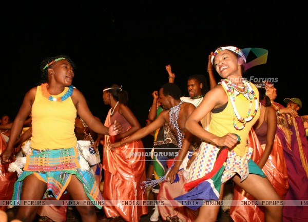 The traditional dancers at the Africa Festival in New Delhi on Tuesday