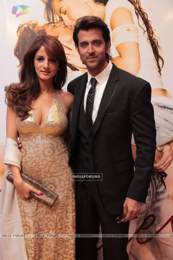 Suzanne Roshan and Hrithik Roshan at London Premiere of Kites