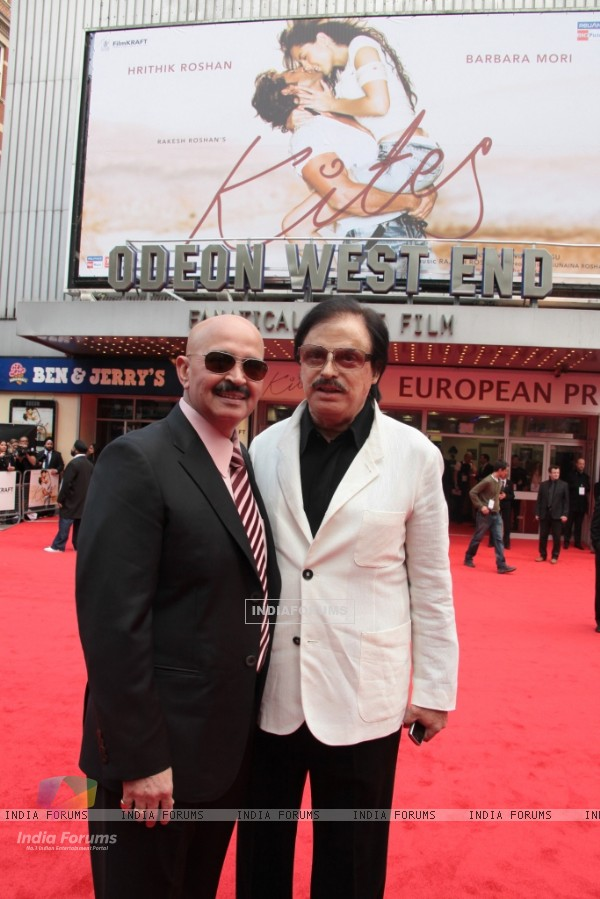 Rakesh Roshan and Sanjay Khan attends the European premiere of ''Kites'' at Odeon West End in London (87754)