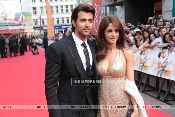 Hrithik Roshan and Suzanne Roshan at Odeon Westend in London