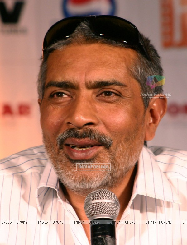 "Bollywood director Prakash Jha at a press conference for his film ""RAJNEETI"",in New Delhi on Thursday"