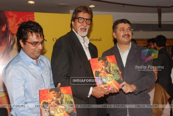 "Bollywood superstar Amitabh Bachchan at the book launch of ""Bollywood in Posters"" at Crossword, Juhu"