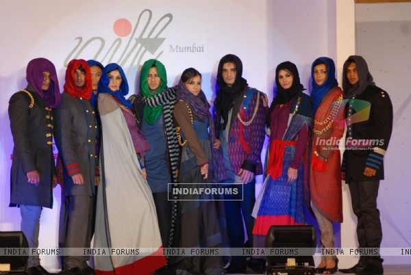 Model walk on the ramp for NIFT Design Collection 2010