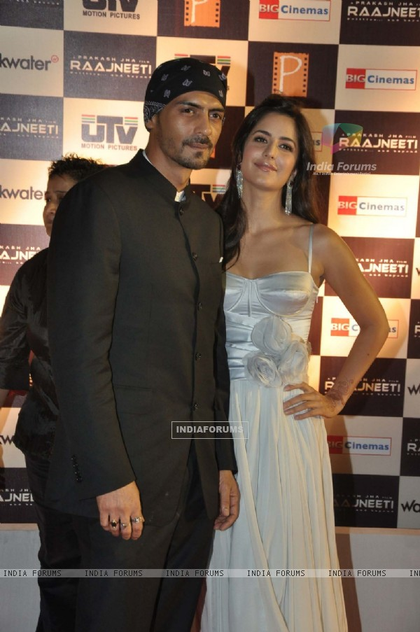Arjun Rampal and Katrina Kaif at ''Raajneeti'' premiere at IMAX