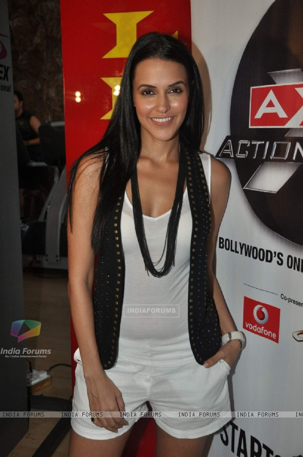 Neha Dhupia at AXN Action Awards media meet at Golds Gym, Bandra, Mumbai