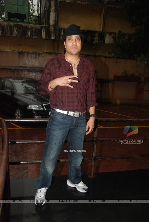 "Bollywood Singer Mika Singh during the song recording of Punjabi Film ""Will You Marry Me"" in Mumbai"