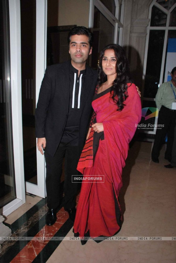 Vidya Balan and Karan Johar at HT Cafe relaunch bash at ITC Grant Central