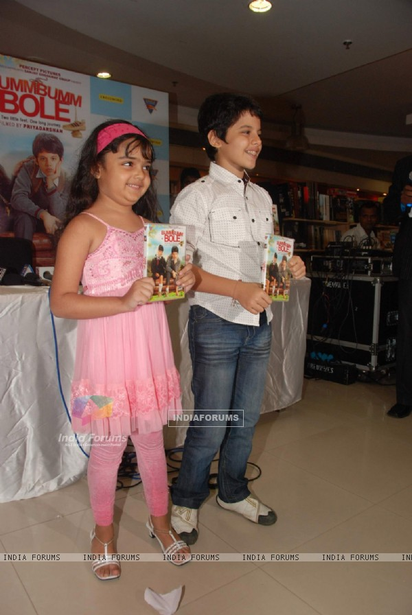 Darsheel Safary and Ziyah Vastani at Bum Bum Bole Film DVD launch at PVR, Juhu