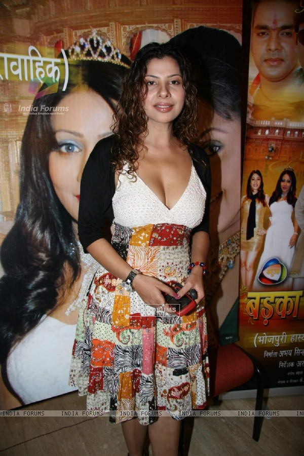 "Item girl Sambhavna Seth at the launch of Bhojpuri show ""Badka Sahab"" Raheja Classic"